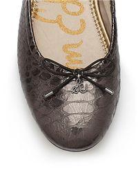 Sam Edelman | Felicia Metallic Leather Flats | Lyst