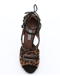Tabitha Simmons - Multicolor Leopard Print Calf Hair 'bailey' Ankle Strap Sandals - Lyst