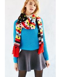 Urban Outfitters - Multicolor Kitschy Intarsia Oblong Scarf - Lyst