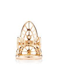 Joelle Jewellery - Metallic 18K Pink Gold Lace Phalanx Ring - Lyst