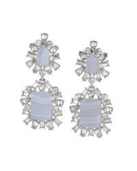 BCBGMAXAZRIA - Blue Scatteredstone Drop Earrings - Lyst