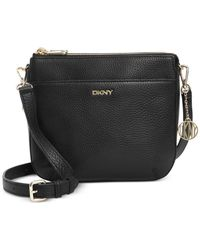 DKNY | Black Double Zip Crossbody | Lyst