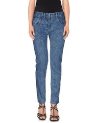 YMC | Blue Denim Trousers | Lyst