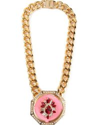Shourouk | Pink 'gaius' Necklace | Lyst