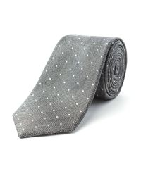 Racing Green | Gray Boston Spot Design Tie for Men | Lyst