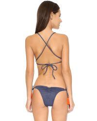 Sofia By Vix - Blue Denim Crossed Back Bikini Top - Lyst