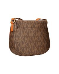 MICHAEL Michael Kors | Brown Bedford Medium Flap Messenger | Lyst