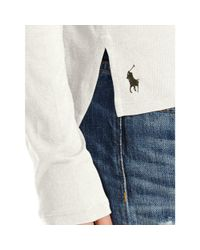 Polo Ralph Lauren - White Drapey Long-sleeved Tee - Lyst