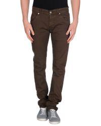 Dondup | Brown Denim Trousers for Men | Lyst