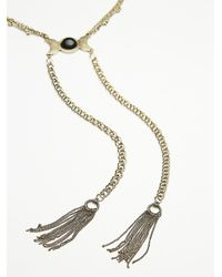 Free People | Black Womens Stone Tassel Bolo | Lyst