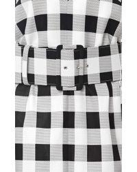 Derek Lam - Black Belted Gingham Faille Dress - Lyst