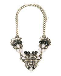 Forever 21 | Multicolor Clustered Faux Gem Necklace | Lyst