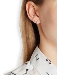 Maria Black - Metallic Klaxon Twirl Silver Earrings - Lyst