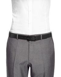 HUGO | Black Belt 'gavinos' In Italian Leather for Men | Lyst