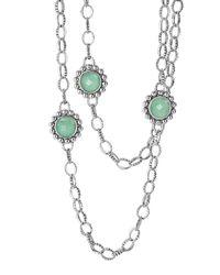 Lagos | Green Maya Silver Variscite Station Necklace | Lyst