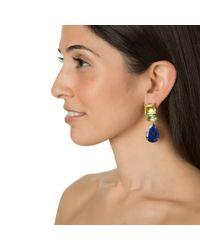Bounkit | Multicolor Lemon Quartz, Blue Quartz, And Lapis Earrings | Lyst