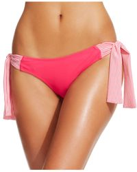 Jessica Simpson | Pink Side-Ties Hipster Bikini Bottom | Lyst
