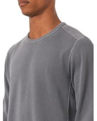 Rag & Bone - Gray Military Cotton Sweatshirt for Men - Lyst