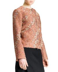 Jil Sander - Red Confetti Floral Boucle Zip Jacket - Lyst