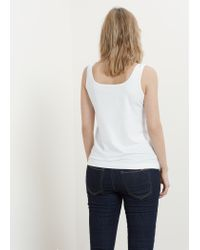 Violeta by Mango - White Cotton Top - Lyst
