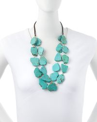 Panacea - Blue Layered Chunky Turquoise Necklace - Lyst