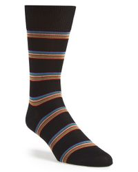 Paul Smith | Black Stripe Socks for Men | Lyst