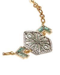 Lulu Frost - Green 'ortigia' Crystal Stone Mosaic Chain Bracelet - Lyst