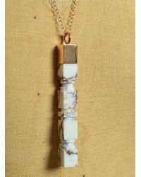 Lily Kamper - White & Copper Matrix Rose Gold Column Pendant - Sold Out - Lyst