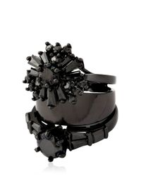 Iosselliani | Black All That Jewelry! Stacked Ring | Lyst