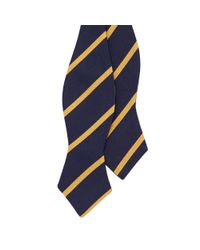 Polo Ralph Lauren - Blue Striped Silk Repp Bow Tie for Men - Lyst