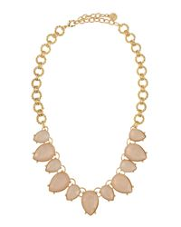 R.j. Graziano - Metallic Oversized Collar Necklace - Lyst