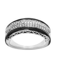 Lord & Taylor | Diamond, Black Rhodium And Sterling Silver Ring | Lyst