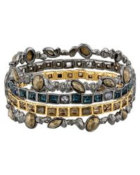 Alexis Bittar | Metallic Stacked Rocky Hinge W/ Rose Cut Pyrite | Lyst