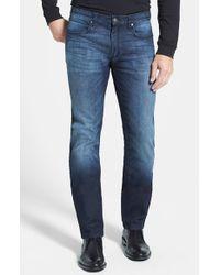 HUGO | Blue '708' Slim Fit Jeans for Men | Lyst