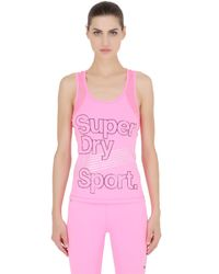 Superdry - Pink Gym Sports Tank Top - Lyst