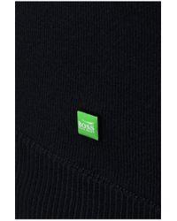 BOSS Green | Blue Cotton-blend Sweater 'rall' for Men | Lyst