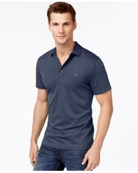 Michael Kors | Blue Three-button Short-sleeve Polo for Men | Lyst