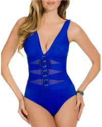 Miraclesuit | Blue One-Piece Suit Yourself Ansonia Swimsuit | Lyst