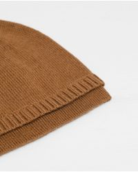 Zara | Natural Plain-colored Knit Hat for Men | Lyst