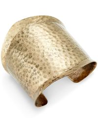 INC International Concepts | Metallic Gold-tone Hammered Cuff Bracelet | Lyst