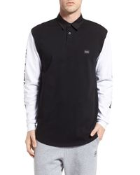 Barney Cools - Black 'b. Long' Long Sleeve Jersey Polo for Men - Lyst