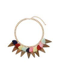 TOPSHOP | Multicolor Ice Cream Cone Necklace | Lyst