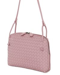 Bottega Veneta | Pink Small Intrecciato Nappa Leather Bag | Lyst