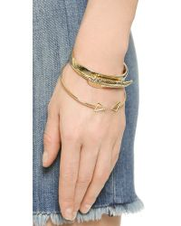Adia Kibur | Metallic Bangle Bracelet Set - Gold | Lyst