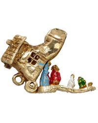 Annina Vogel | Metallic Vintage Gold Shoe Family Charm | Lyst