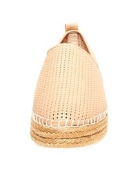 Steve Madden | Natural Perforated Faux Leather Slip-on Sneakers | Lyst