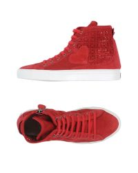 Twin Set   Red High-tops & Trainers   Lyst