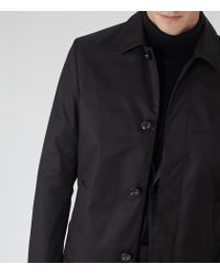Reiss - Blue Grafton Concealed Placket Mac for Men - Lyst