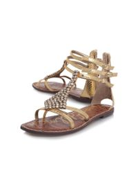 Sam Edelman | Metallic Ginger Sandals | Lyst