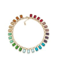 Carolee | Multicolor Cabaret Rainbow Stone Collar Necklace | Lyst